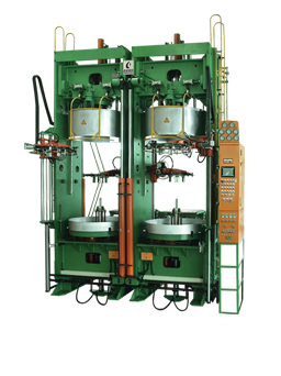 Frame type hydraulic vulcanizing machine